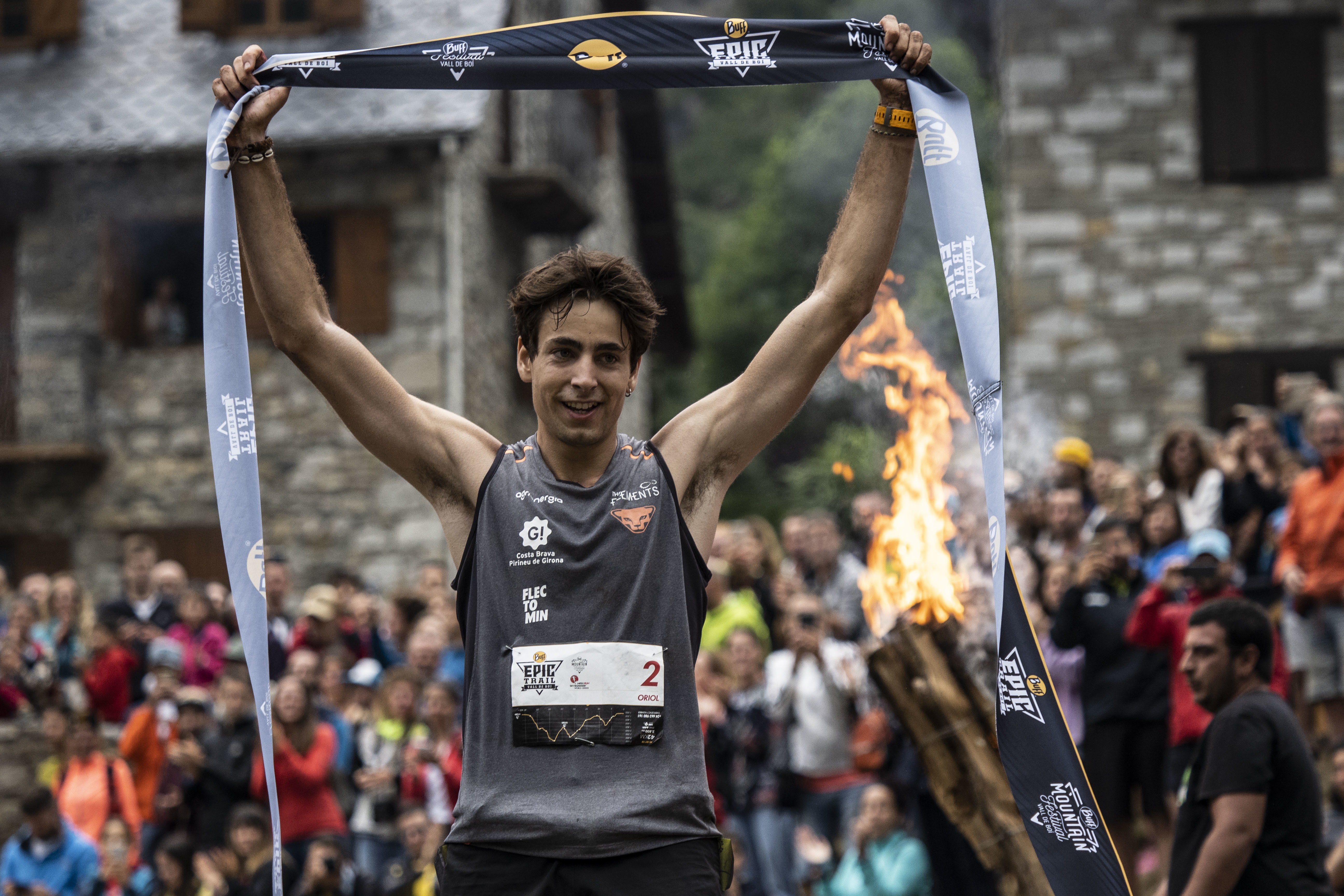 Oriol Cardona, ganador de la Buff Epic Trail